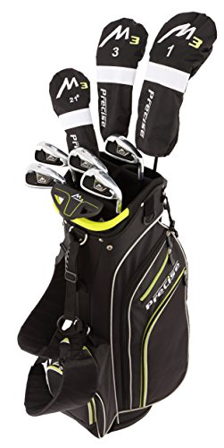 "Precise M3 Men's Complete Golf Clubs Package Set Includes Driver, Fairway, Hybrid, 6-PW, Putter, Stand Bag, 3 H/C's - Right Handed - Regular or Tall Size (Tall Size +1"", Right Handed)"