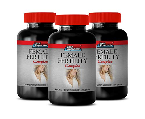 Aphrodisiac Supplement for Women - Female Fertility Complex 1310 MG - folic Acid Best Seller - 3 Bottles 180 Capsules
