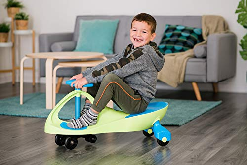Girls & Boys Swing Wiggle Car Ride On Twist & Go Scooter Car Red Blue Green (Blue) by BSL