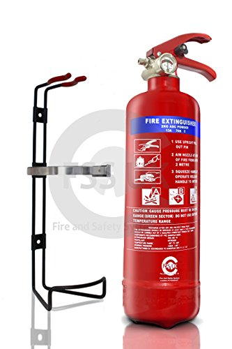 Estintore per trasporto e veicolo FSS UK 2 KG ABC polvere secca estintore. 70 B valutazione BSI KITEMARKED ideale per tutti i veicoli