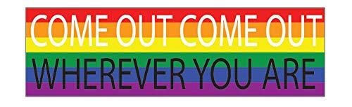 Regenboog LGBT Grote Grappige Bumper Sticker Auto Auto Decal Truck RV Boot Raam Kom uit waar je ook bent