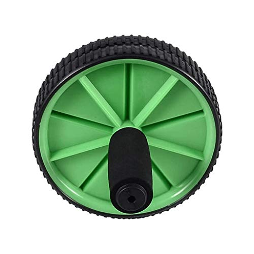 FJLDX Rodillo de AB de la Rueda, por núcleo de ABS Implantación Ejercicio, Doble Sistema de Rueda de la Fuerza de Doble Aptitud Modos de Entrenamiento en el Gimnasio o Home (Color : Green)