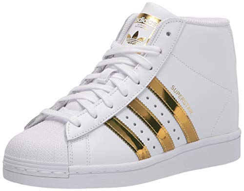 adidas Originals Women's Superstar Up Sneaker, White/Gold Metallic/Black, 7.5 M US