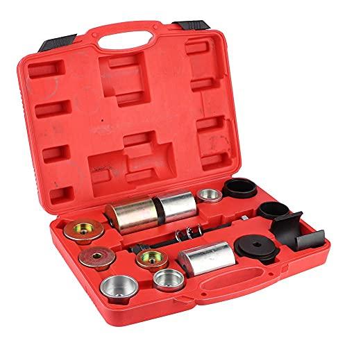 GTFHUH Herramienta extractora de Extractor de rótula, 14 unids/Set, Extractor de Extractor de rótula de diferencial de Eje Trasero, Herramienta de cojinete de Goma Apta para E36 E46 E39 E70