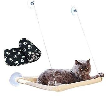 Charge-portant: 15 kg; Taille du lit: 55 x 32 cm (L x W); La couverture touche doux. Ils fournissent ensemble une constante, fiable et endroit confortable pour ton cher chat. En utilisant sa ventouse, ce hamac C'est très facile et très rapide install...