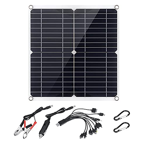 Kaxofang Panel Solar De 12 W Y 18 V Panel Solar De Salida USB Dual Flexible Cargador De Coche Y Barco Panel De Carga Solar De TeléFono MóVil