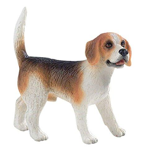 Bullyland 65424 - Spielfigur, Beagle Henry, ca. 6 cm groß, liebevoll handbemalte Figur, PVC-frei, tolles Geschenk für Jungen und Mädchen zum fantasievollen Spielen