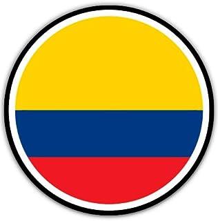 "Colombia Flag - 3"" Vinyl Sticker - For Car Laptop I-Pad Phone Helmet Hard Hat - Waterproof Decal"