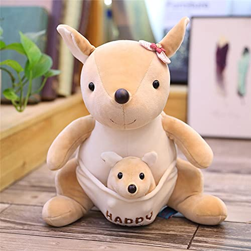 KXCAQ 25 cm Sentado Madre y bebé Panda Pangolín Erizo Oso Polar Peluches Peluches de Animales de Peluche Regalo 25 cm Canguro