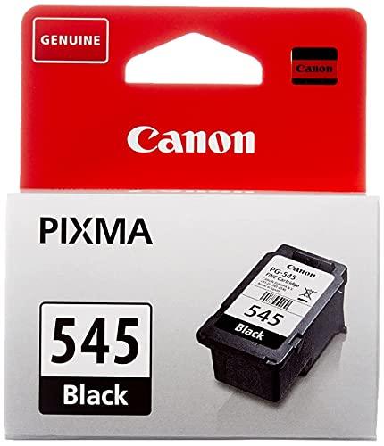 Canon PG-545 Cartucho de tinta original Negro para Impresora de Inyeccion de tinta PiXMA iP2850-MG2450-2455-2550-2555-2950-3050-3051-3052-MX495-TR4550-4551-TS205-305-3150-3151-3350-3351-3352-3355