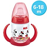NUK 10215268 Disney Mickey Mouse First Choice Trinklernflasche, BPA frei, ab 6 Monate, 150 ml, rot