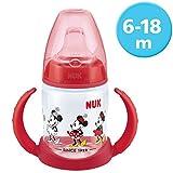 Nuk Disney Minnie Mouse Biberón aprendizaje de silicona, 150 ml, modelos...
