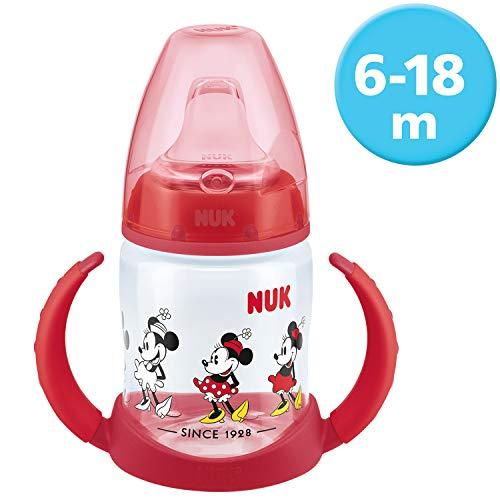 Nuk First Choice Biberon di Apprendimento con Disegno Disney, 6-18 Mesi, 150 Ml, Anticoliche, Minnie Mouse (Topolina) - 160 g