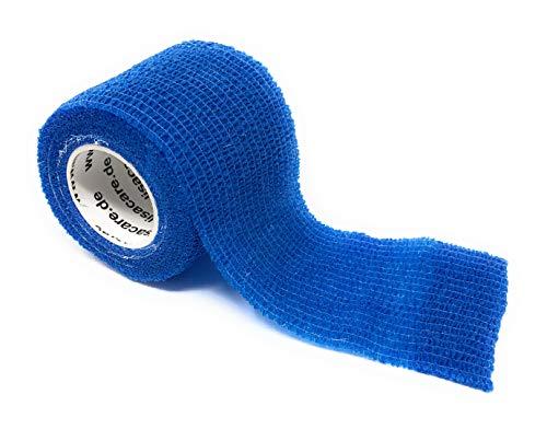 LisaCare - Benda elastica coesiva, autoadesiva, larghezza 5 cm, per persone e animali, per sport, lavoro, equitazione, colori e motivi assortiti