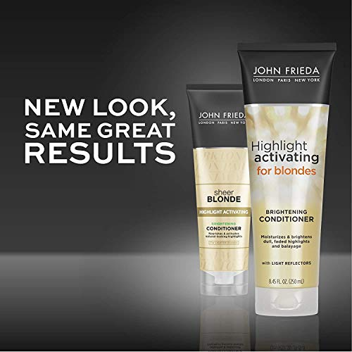 John Frieda Sheer Blonde Highlight Activating Enhancing, DUO set Shampoo + Conditioner (for Lighter Blondes), 8.45 Ounce, 1 each