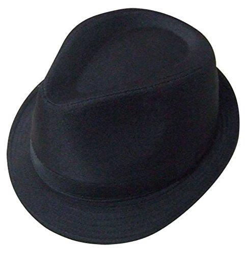 VIZ-UK WEAR Chapeau trilby uni Noir - Noir - 6 7/8