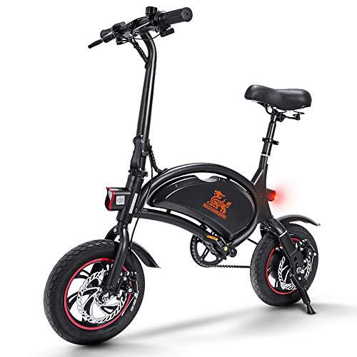 urbetter Vélo Électrique Pliant, 12' Vélo Adulte, 40-60km la Longue Portée, Vitesse jusqu'à 25 km/h, 36V 10Ah Batterie, Vélo Électriques avec Pédale, City E-Bike, B1 Pro