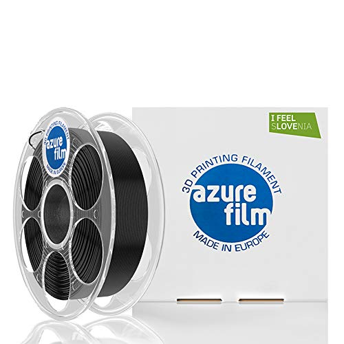 AZUREFILM PLA 3D Professional Printer Filament 1.75 mm - Must Have Printing Accessories for Bringing Your Ideas to Life - High Dimensional Accuracy +/- 0.02 mm, 1 kg Spool, Black - No Bubbles or Jams