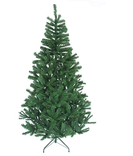 WASAKKY Christmas Tree with Lights - 6FT Christmas Tree with Lights, Artificial Christmas Tree with Christmas Decorations (6.9ft)