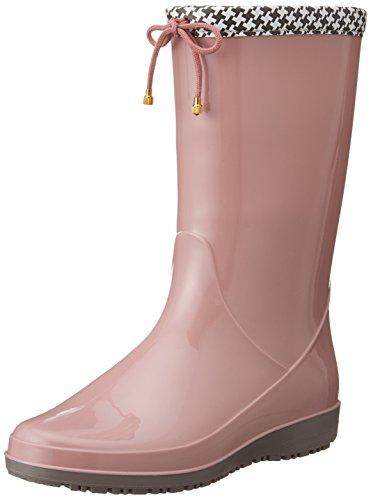 [アキレス] レインブーツ 長靴 作業靴 レインシューズ 日本製 2E レディース OAB 0140 ローズ 22.5