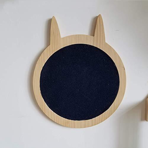 Felivecal Montado en la pared en forma de gato lindo rascador, lugar para colocar en el suelo o en la pared, rascador de pared para gatos, cojines se pueden reemplazar