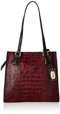 Hidesign Women's Handbag(CROCO MEL RANCH MARSALA BROWN) (N 1)