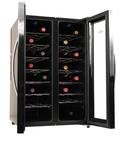 NewAir AW-320ED 32-Bottle Dual Zone Thermoelectric Wine Cooler,Black