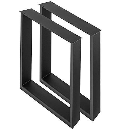 KITGARN Uppsättning av 2 stålbordsben 61 cm x 71 cm matbord ben kontorsbord ben dator skrivbord ben stål bänk ben lantlig stil bord ben gör-det-själv möbler ben (61 cm x 71 cm)