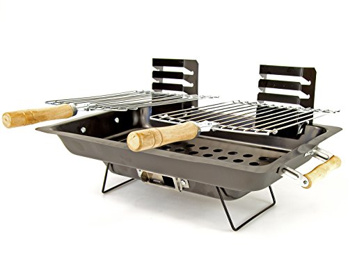 Nick and Ben Barbecue BBQ Tisch-Grill Holz-Kohle 43 cm x 25 cm