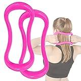 Gxhong Anello per Yoga, Anello per Pilates Yoga Ring Fitness Circle Training Ring per Stretching e Rinforzi Torace Cosce Arms Core Ideale per Schiena, Spalle, Fianchi, Vita
