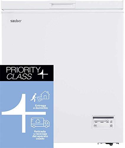 Sauber - Congelador Horizontal SERIE 5-145H - Eficiencia energética: A+ - Ancho: 70,5 cm - 145 litros - Color Blanco