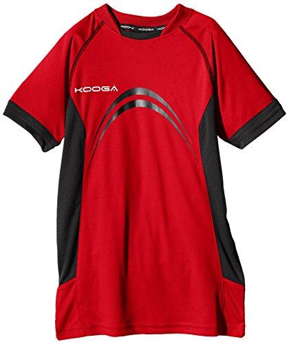 Kooga Elite Panel t-Shirt, Ragazzi, Elite Panel, Red/Black, XS