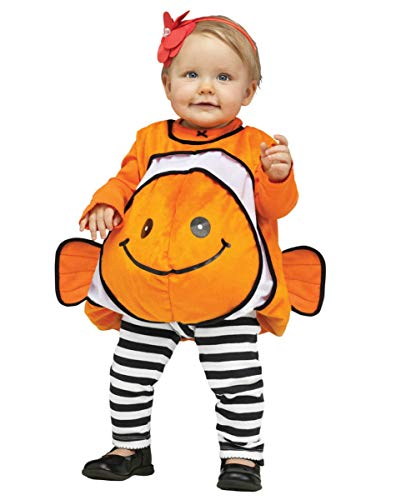 Horror-Shop Traje de bebé Nemo Clownfish Naranja M