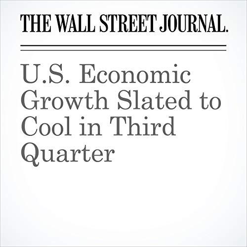 U.S. Economic Growth Slated to Cool in Third Quarter copertina