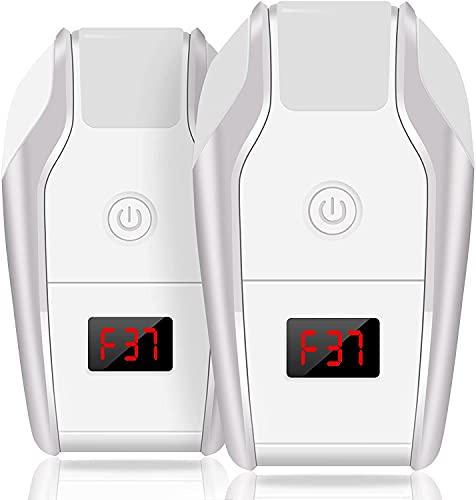 2 Pack Ultrasuoni per Topi, 24-72khz Frequenza Variabile con Luci Usato Come Repellente Topi Ultrasuoni Zanzare per Topi, Respingi Zanzara,Formiche,Topi o Altri Roditoria