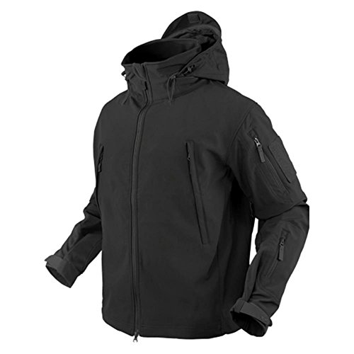 Condor Summit Zero Men's Lightweight Soft Shell Jacket (Black, Large)