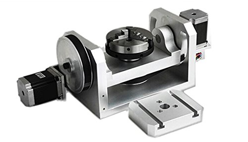 K01 100 mm Chuck CNC 4./5. As (A Aixs/Rotary Axis) voor CNC-router DIY CNC