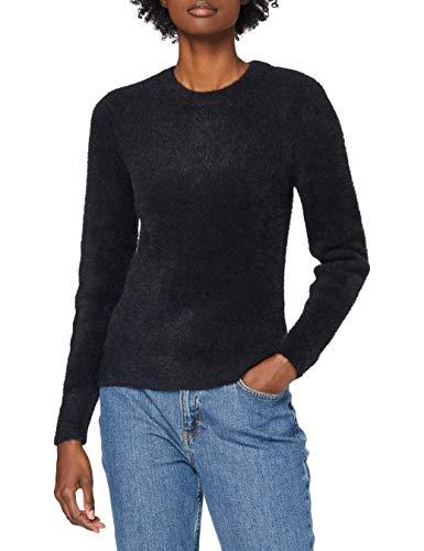 edc by ESPRIT Damen 110CC1I311 Pullover, 001/BLACK, L