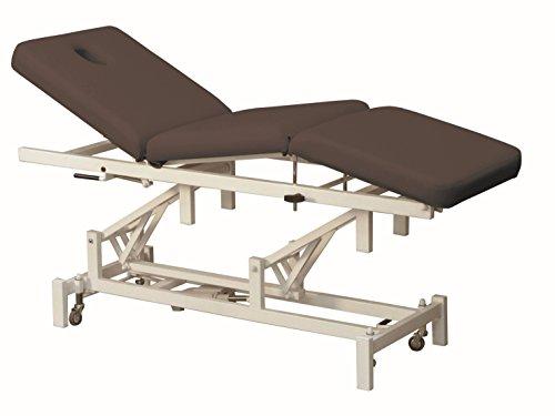 Elektrische Massageliege, Stahl, 190 x 62 cm, 3 Zonen, Kyphoseneigung, schwarzbraun