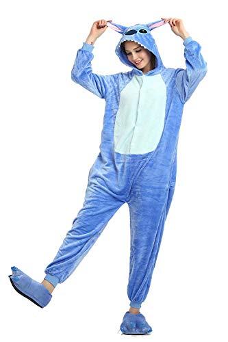 Onesie Adultos Pijamas Mujeres Ropa de Dormir clida Ropa para el hogar Punto de Dinosaurio Unicornio Animal Cosplay Cartoon Playsuit Pijama de Franela Mono