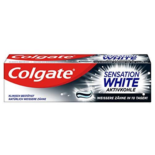 Colgate Zahnpasta Sensation White 75ml - mit Aktivkohle, weißere Zähne in 10 Tagen