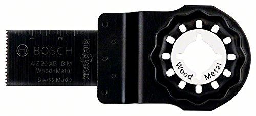 Bosch 2609256950 Lama Utensile Multifunzione Tagli per Metallo e Legno, BiM, 20x20 mm