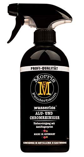 Morris Fenderbaum Alu- und Chromreiniger Profi-Qualität - Felgenreiniger, Autopflege, Detailer, Auto-Politur - Badreiniger, Küche - Sprühflasche 1 x 500 ml