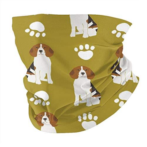 Lesif Seamless Face Bandana Head Wrap Scarf Headband Neck Warmer Gaiter Headwear Balaclava For Outdoors Sports,Beagle Beagles Pet Dog Dogs Cute Paw Paws Print
