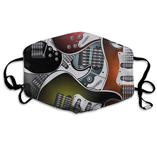 Pila de Instrumentos de Cuerda de música Rock de Guitarras eléctricas Coloridas...