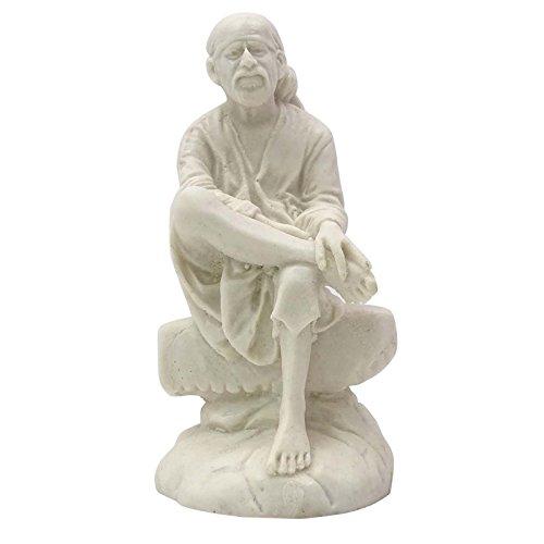 Resin Herr Sai Baba Statue Auto-Armaturenbrett Dekor Indische religiöse Figur
