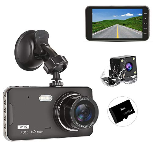 Dash Cam Front and Rear Dual with 32G SD Card, SILINTION Dash Camera 4...