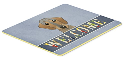 "Caroline's Treasures Wirehaired Dachshund Welcome Kitchen or Bath Mat, 24 by 36"", Multicolor"