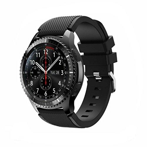 Samsung Gear S3Banda y # xFF0C; kcoyo Suave Correa de Silicona de Repuesto Correa de Pulsera para Samsung Gear S3Frontera/Classic 22mm