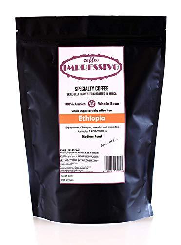 Äthiopien:: Impressivos Kaffeespezialität aus Äthiopien, 100% Arabica, Single Origin Ganze Bohnen, fachkundig in Afrika geröstet (nordischen Röstung), Top 5% Kaffee der Welt, 350g